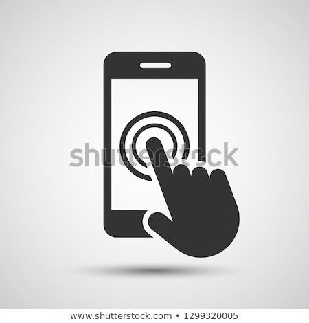 мобильного телефона стороны курсор современных большой телефон Сток-фото © pkdinkar