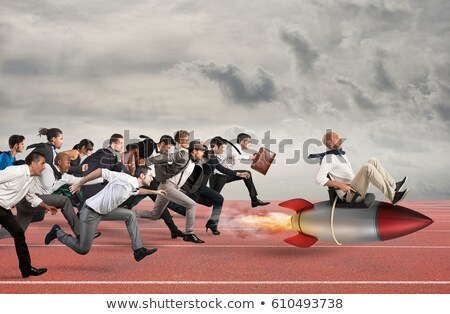 Businessman running an enterprise Stock photo © photography33