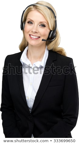 customer service blond with long hair Stock photo © dolgachov