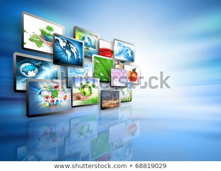Foto stock: Television Production Concept Tv Movie Panels