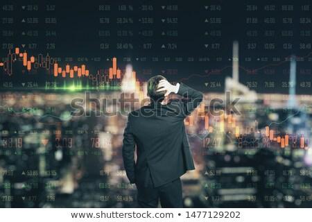 przystojny · biznesmen · okulary · szmata · szary · twarz - zdjęcia stock © photography33