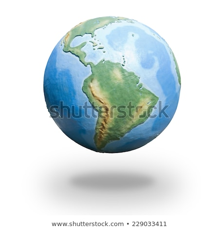 earth model from space south america view stock photo © samopauser