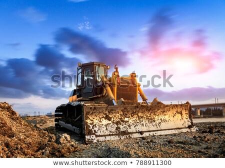 Buldozer maşină muncă minerit pământ lucru Imagine de stoc © stoonn