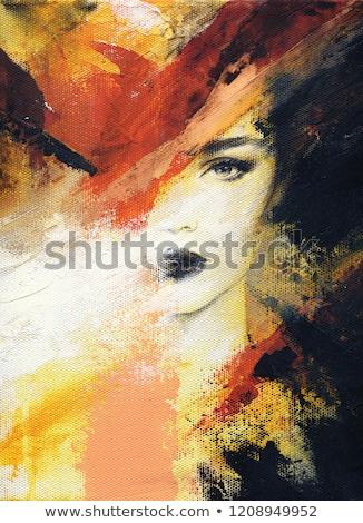 Retrato musa bela mulher branco mulher moda Foto stock © artjazz