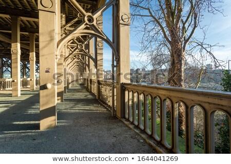 Eski çelik köprü Zimbabve yol inşaat Stok fotoğraf © jacojvr