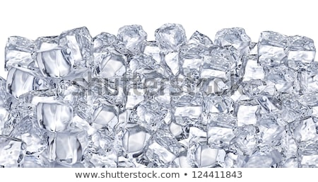 background with ice cubes in blue light Stock photo © ozaiachin