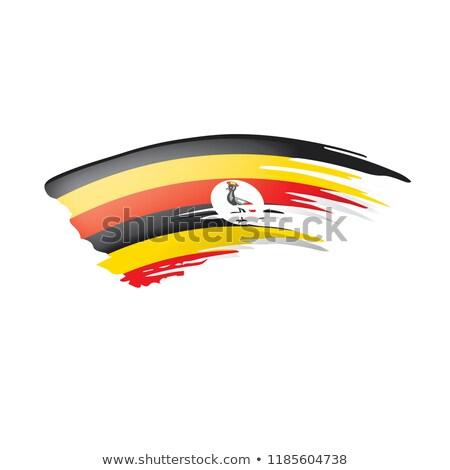 Uganda zászló öreg izolált fehér festmény Stock fotó © zeffss