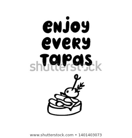 jamon appetizer stock photo © zhekos