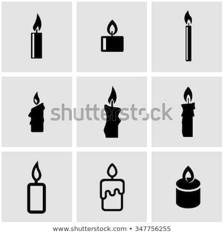 Ikona Świeca dziewica baby Jezusa powieka Zdjęcia stock © yul30