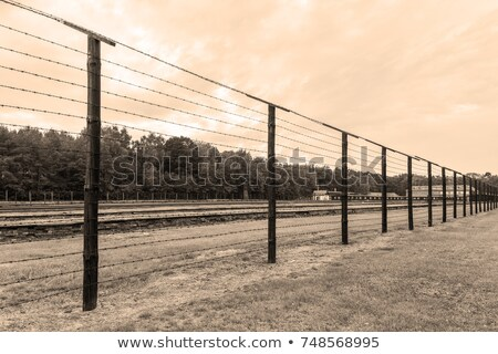 Alambre cerca concentración campamento Polonia edificio Foto stock © Arsgera