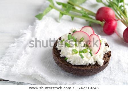 fraîches · savoureux · fromages · pain · table · en · bois - photo stock © juniart