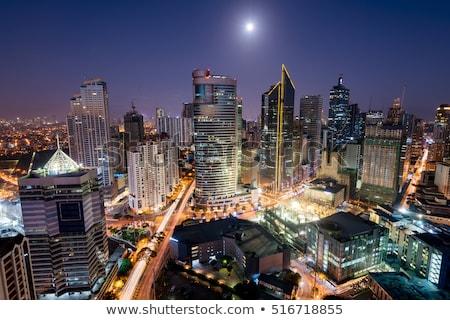 Manila · ufuk · çizgisi · metro · Filipinler · gökyüzü - stok fotoğraf © joyr