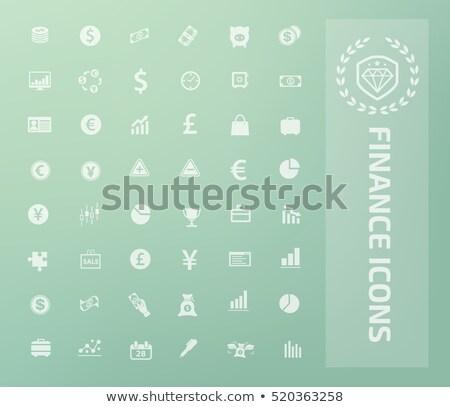 Grande establecer iconos trabajadores construcción Foto stock © perysty