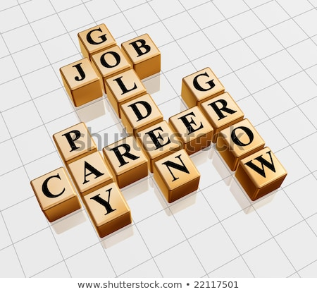 golden crossword - job, career, grow, pay Stock photo © marinini