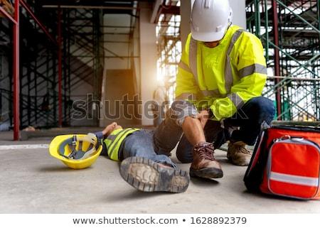 Stock fotó: Sebesült · építőmunkás · férfi · építkezés · kék · ipar