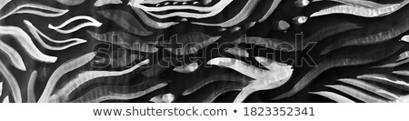 Stylized Silvery Fish Stock photo © albund