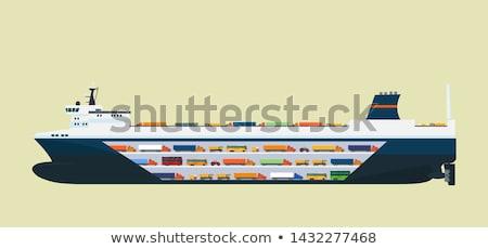 Ro-ro freight ship Stock photo © papa1266