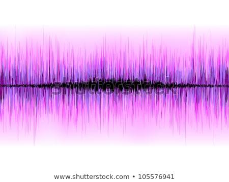 Sound waves oscillating on white background. EPS 8 Stock photo © beholdereye
