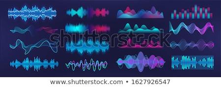 hullám · űrlap · minta · vektor · illusztráció · gyűjtemény - stock fotó © hfng