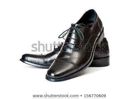 Par sapatos isolado branco moda preto Foto stock © a2bb5s