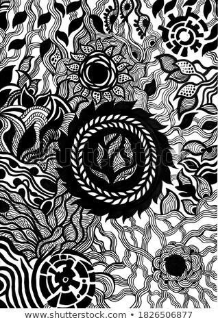 Négy absztrakt hátterek fehér vektor művészet Stock fotó © robertosch