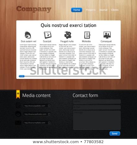 Cuir conception de site web résumé modèle vecteur art Photo stock © robertosch