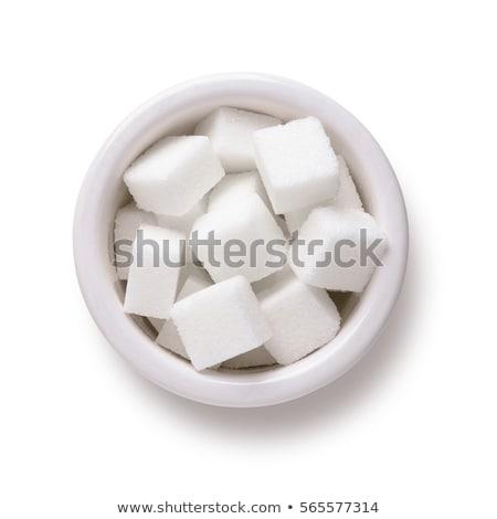 сахар чаши изолированный белый продовольствие Сток-фото © danny_smythe
