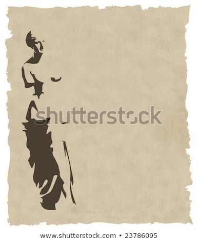 vector venus silhouette on old paper Stock photo © sdmix