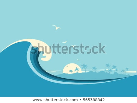 surfer wave background vector stock photo © krabata