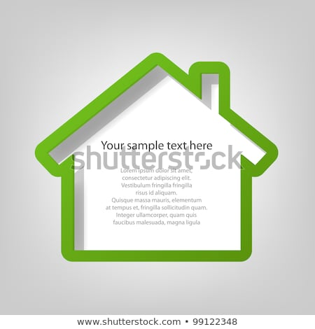 Home Icon with Blank Frame Stock photo © Lightsource