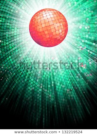 red disco ball on light mosaic detail eps 10 stock photo © beholdereye