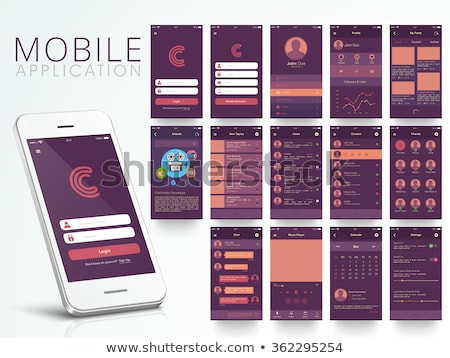 mobile apps design Stock photo © georgejmclittle