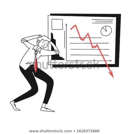 безработный · бизнесмен · отчаянный · грязный · банкротство · финансовый · кризис - Сток-фото © tommyandone