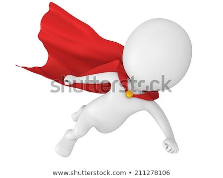 3d man superhero at rescue stock photo © digitalgenetics