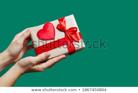 ribbon with red hearts stock photo © grazvydas
