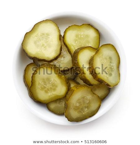 salado · pepinos · casero · vidrio · ruso · tradicional - foto stock © ewastudio