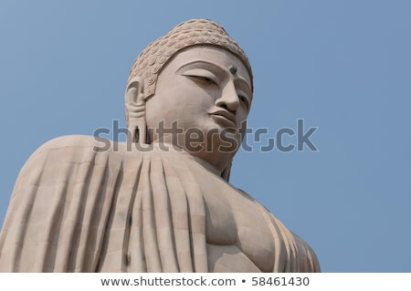 giant buddha in bodhgaya bihar india stock photo © meinzahn