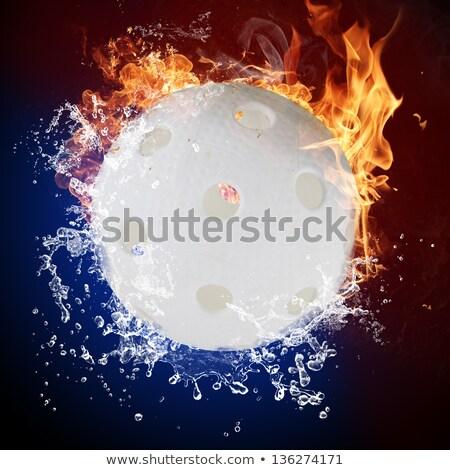 Fuego llamas agua salpicaduras deporte verano Foto stock © Kesu