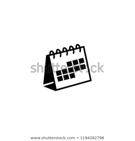 Desktop calendario icona giallo computer pulsante Foto d'archivio © tashatuvango