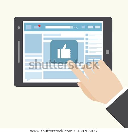 kéz · kisajtolás · ahogy · gomb · férfi · technológia - stock fotó © hasloo