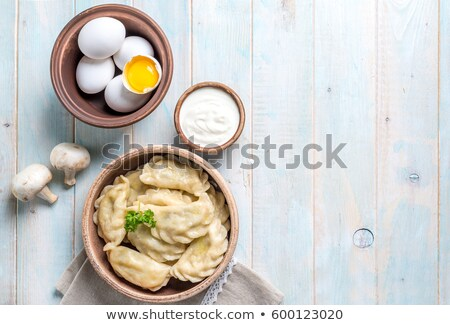 krém · vacsora · tányér · dekoratív · perem · tiszta - stock fotó © ssuaphoto