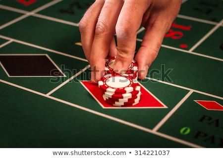 Rulett fogadás igazi kaszinó sültkrumpli asztal Stock fotó © tony4urban