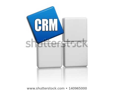 blue cube with letters CRM on boxes Stock photo © marinini