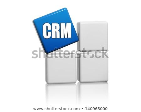 синий куб письма crm коробки клиентов Сток-фото © marinini
