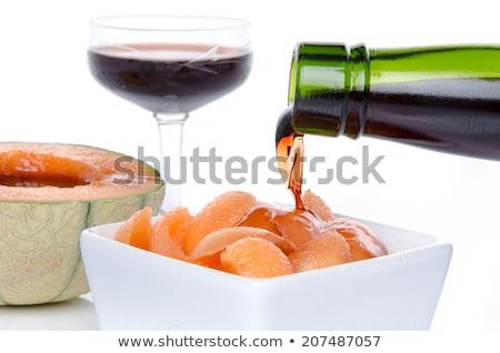kavun · tatlı · cam · kokteyl · kahvaltı · yemek - stok fotoğraf © m-studio