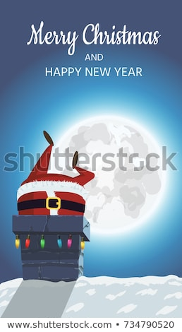 Santa going down the chimney Stock photo © carbouval
