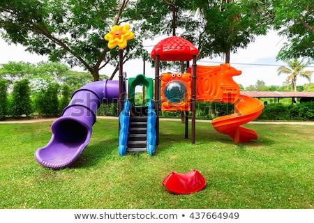 játszótér · park · fa · gyerekek · boldog · sport - stock fotó © maxmitzu