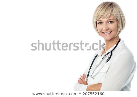 doktorlar · eller · yalıtılmış · beyaz · gülümseme - stok fotoğraf © maridav