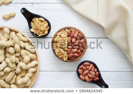 amendoins · branco · azul · nozes - foto stock © lunamarina