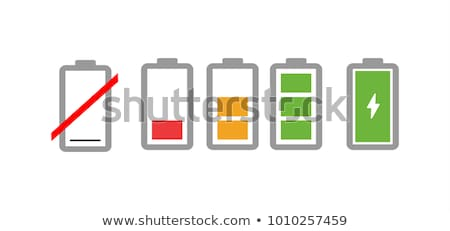 Green battery full level indicator Stock photo © tilo